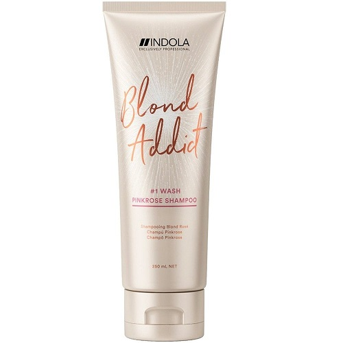Indola Blond Addict Wash Pinkrose Shampoo 250 ml