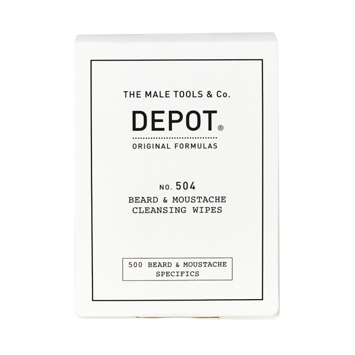 Depot NO.504 Beard & Moustache Cleansing Wipes 12 ks