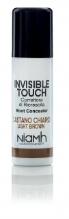 Niamh Hairkoncept Invisible Touch Root Concealer Light Brown 75 ml - korektor na vlasy svetlo hnedý