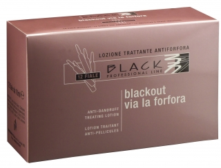 Black Anti-Dandruff Lotion 10ml - vlasové ampule